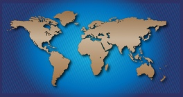 world map plain