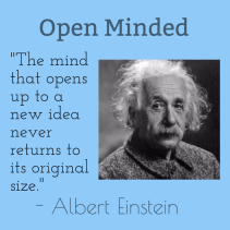 Albert Einstein - Open Minded Image